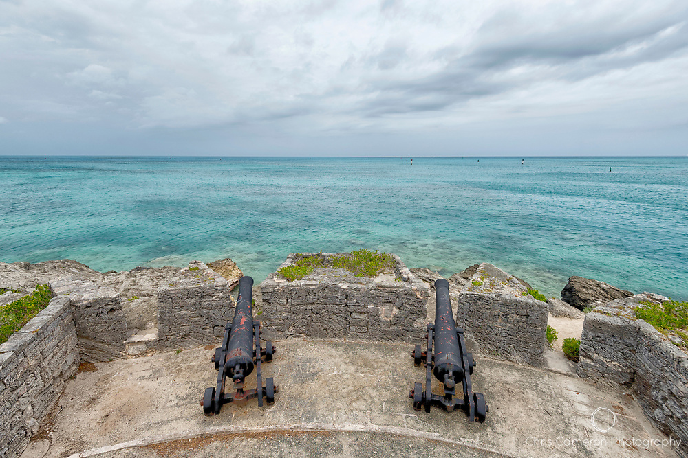 Cannons at Gates Fort at the entrance to St Georges Harbour, Bermuda. 26/5/2017
