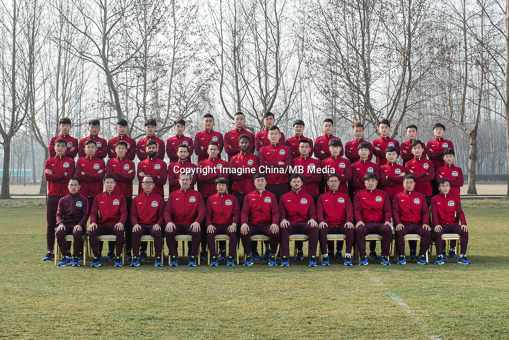 Group shot of players of Henan Jianye F.C. for the 2017 Chinese Football Association Super League, in Zhengzhou city, central China's Henan province, 19 February 2017.