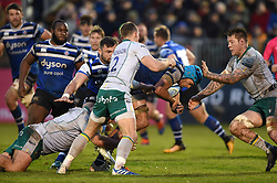 Zach Mercer of Bath Rugby takes on the Northampton Saints defence - Mandatory byline: Patrick Khachfe/JMP - 07966 386802 - 09/11/2019 - RUGBY UNION - The Recreation Ground - Bath, England - Bath Rugby v Northampton Saints - Gallagher Premiership