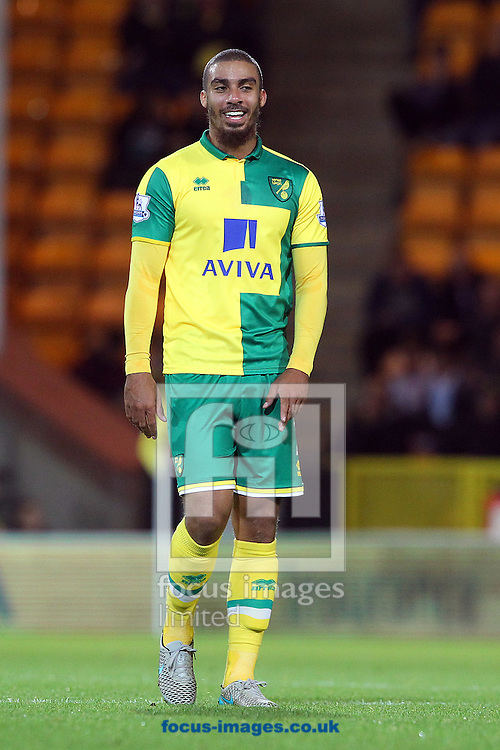Lewis Grabban of Norwich during the Capital One Cup match at Carrow Road, Norwich<br /> Picture by Paul Chesterton/Focus Images Ltd +44 7904 640267<br /> 23/09/2015