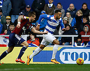 Queens Park Rangers midfielder and top goal scorer Matt Phillips runs down the line to get a cross into the box during the Sky Bet Championship match between Queens Park Rangers and Ipswich Town at the Loftus Road Stadium, London, England on 6 February 2016. Photo by Andy Walter.