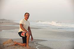 Good looking older man at the ocean