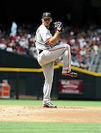 Apr. 7, 2012; Phoenix, AZ, USA; San Francisco Giants pitcher Madison Bumgarner (40) pitches against the Arizona Diamondbacks during the first inning at Chase Field. Mandatory Credit: Jennifer Stewart-US PRESSWIRE