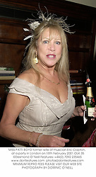 MISS PATTI BOYD former wife of musician Eric Clapton,  at a party in London on 18th February 2001.	OLK 35