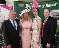 At the launch of The Galway Races summer festival 2015 was   John Moloney  Galway Race Course Manager, Marietta Doran and Shirley Bracken Athlone Town Centre and Michae Moloney Galway Race Course . The launch was held at the Radisson blu Galway  .Photo:Andrew Downes:XPOSURE