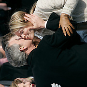 Presidential Inauguration 2005- GEORGE W. BUSH.Washington, DC.01/20/2005.West Front - US Capitol.President Bush with daughters Barbara and Jenna after being sworn in...Photo by Khue Bui..