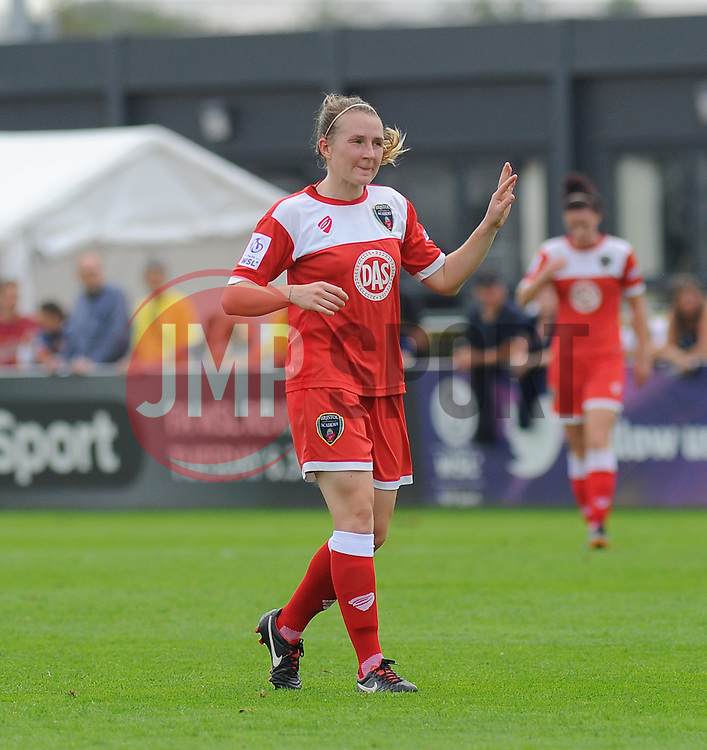 Bristol Academy Womens' Frankie Brown in action. - Photo mandatory by-line: Nizaam Jones- Mobile: 07583 387221 - 28/09/2014 - SPORT - Women's Football - Bristol - SGS Wise Campus - BAWFC v Man City Ladies - sport