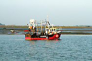 Fishing trawler moored in the Swale