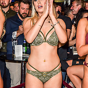 The Cannon Run bikini girls contest at the Driving holiday experience hosts yacht party at The Sunborn Yacht, Royal Victoria Dock on 31 May 2019, London, UK.