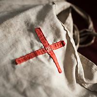 A hand-sewn Bible bag.