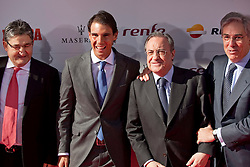 26.11.2013, Callao Cinema, Madrid, ESP, Rafael Nadal, Marca Legend Award, Gala zum Gedenken an 75 Jahre der Sport-Tageszeitung, im Bild Spanish tennis player Rafael  Nadal accompanied by Real Madrid President Florentino Perez// attends the 75th Anniversary Marca Awards ceremony at callao cinema in Madrid, Spain on 2013/11/26. EXPA Pictures © 2013, PhotoCredit: EXPA/ Alterphotos/ Victor Blanco<br /> <br /> *****ATTENTION - OUT of ESP, SUI*****
