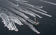 The start of the 2014 Route Du Rhum. <br /> Credit: Mark Lloyd/Lloyd Images