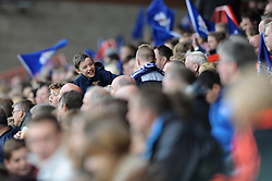 Bristol Rugby fan - Photo mandatory by-line: Dougie Allward/JMP - Mobile: 07966 386802 - 12/10/2014 - SPORT - Rugby - Bristol - Ashton Gate - Bristol Rugby v Connacht Eagles - B&I Cup
