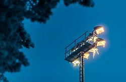 THEMENBILD - Eiszapfen hängen auf einem Flutlichtmasten, aufgenommen am 23. November 2017 in Ruka, Kuusamo, Finnland // Icicles hang on a floodlight pylon, Ruka, Kuusamo, Finland on 2017/11/23. EXPA Pictures © 2017, PhotoCredit: EXPA/ JFK
