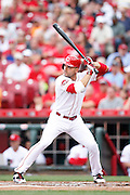 CINCINNATI, OH - JUNE 29: Joey Votto #19 of the Cincinnati Reds bats during the game against the Minnesota Twins at Great American Ball Park on June 29, 2015 in Cincinnati, Ohio. The Reds defeated the Twins 11-7. (Photo by Joe Robbins)  Joey Votto