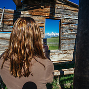 Maura Bushior explores the Shane Cabins Homestead in Grand Teton National Park, Wyoming.