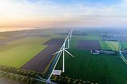 Nederland, Flevoland, Zeewolde, 28-10-2014; Windpark Eemmeerdijk. Windfarm Amalia.<br /> luchtfoto (toeslag op standaard tarieven);<br /> aerial photo (additional fee required);<br /> copyright&copy; foto/photo Siebe Swart