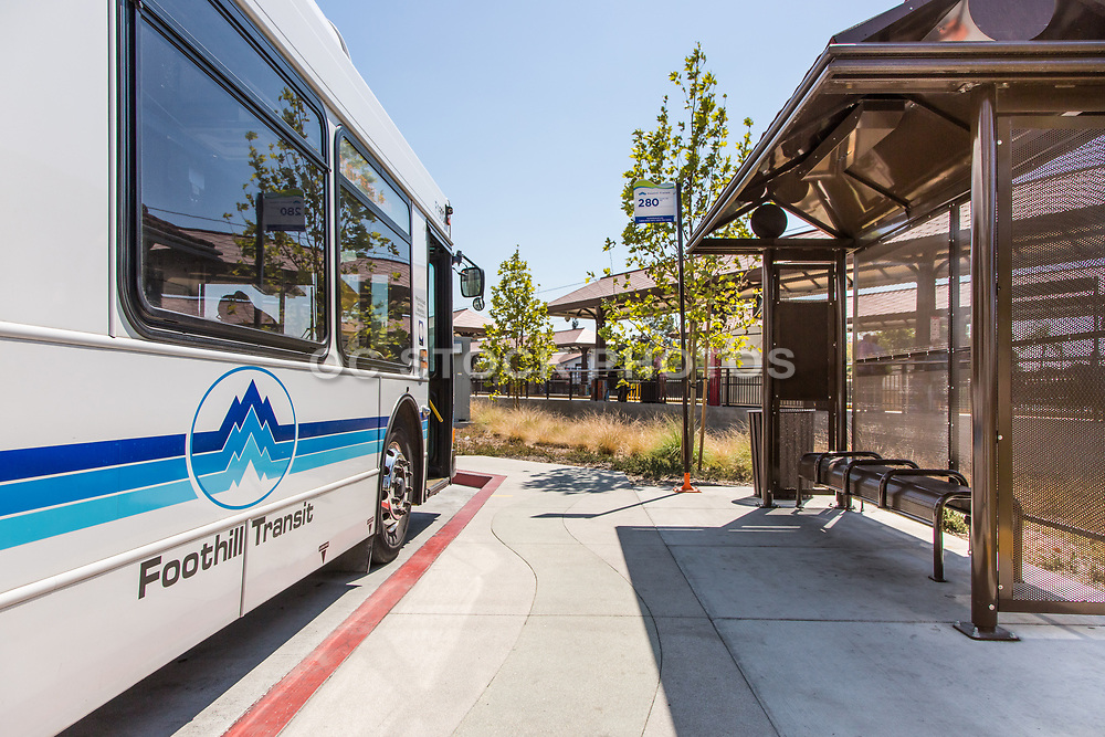 Foothill Transit Bus Stop at Downtown Azusa Station