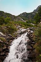 Golzern, Switzerland - waterfall in Maderanertal.
