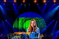 IJMUIDEN - Koning Willem-Alexander opent het jubileumjaar van Tata Steel. Het staalbedrijf viert het honderdjarig bestaan van de staalproductie in IJmuiden. ANP ROYAL IMAGES ROBIN UTRECHT NETHERLANDS ONLY