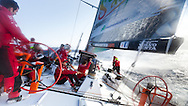 SPAIN, Alicante. 20th October 2011. On board Team Sanya practice session.