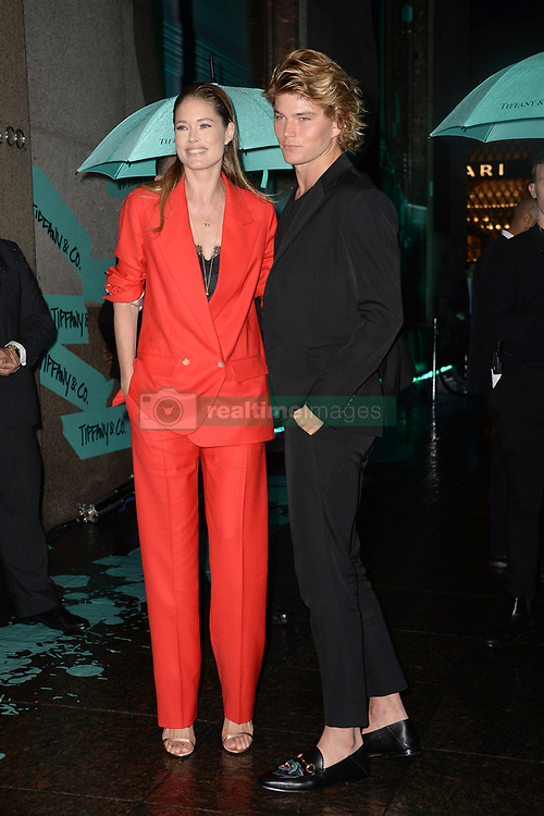 May 3, 2018 - New York, NY, USA - May 3, 2018  New York City..Doutzen Kroes  and Jordan Barrett attending Tiffany & Co. 'Paper Flowers' jewelry collection launch on May 3, 2018 in New York City. (Credit Image: © Kristin Callahan/Ace Pictures via ZUMA Press)