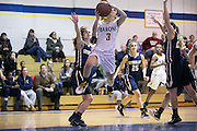 Brighton's Brooke Wolff drives to the hoop during a game against Pittsford Sutherland at Brighton High School on Thursday, January 21, 2016.