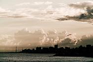 Silhouette of the skyline of the city of La Guaria, Venezuela.