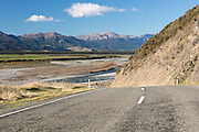 State Highway 7 heading from Lewis Pass towards Hanmer Springs
