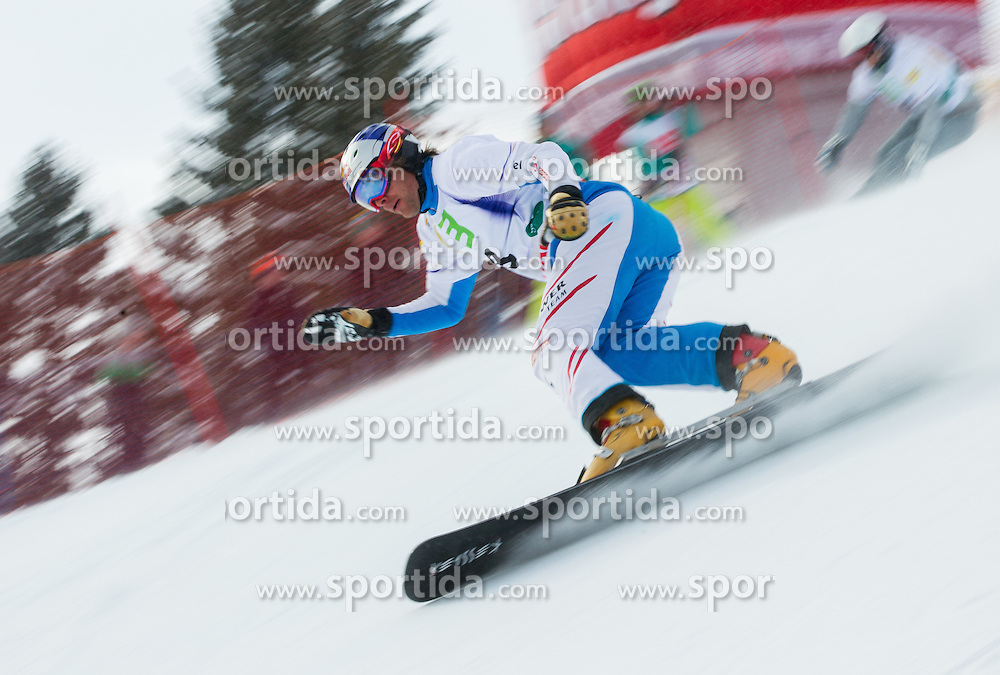 Benjamin Karl of Austria competes during quarterfinal during the Men's Parallel Giant Slalom at FIS World Championships of Snowboard and Freestyle 2015, on January 23, 2015 at the WM Piste in Lachtal, Austria. Photo by Vid Ponikvar / Sportida