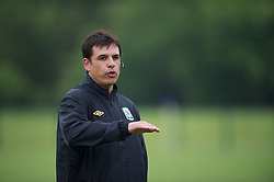 CARDIFF, WALES - Saturday, May 19, 2012: Wales manager Chris Coleman during an FAW Coaching course at the Glamorgan Sports Park. (Pic by David Rawcliffe/Propaganda)
