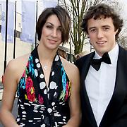 NLD/Hilversum/20100322 -  Inloop schaatser van het jaar verkiezing, Margot Boer en Simon Kuipers