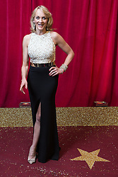 © Licensed to London News Pictures . 16/05/2015 .  The Palace Hotel , Manchester , UK . LOUISE MINCHIN . The red carpet at the 2015 British Soap Awards , The Palace Hotel , Oxford Road , Manchester . Photo credit : Joel Goodman/LNP