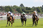 ANYTHINGTODAY (1) ridden by Daniel Tudhope and trained by David O'Meara winning The William Hill Leading Racecourse Bookmaker Handicap Stakes over 1m 4f (£20,000)   during the John Smiths Cup Meeting at York Racecourse, York, United Kingdom on 12 July 2019.