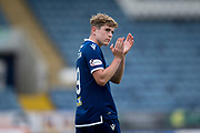 14th September 2019; Dens Park, Dundee, Scotland; Scottish Championship, Dundee Football Club versus Alloa Athletic; Finlay Robertson of Dundee applauds the fans at the end of the match