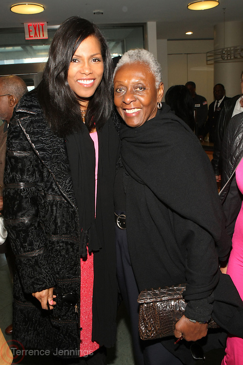 April 3, 2013-New York, NY: (L-R) Author Illyasah Shabazz and Fashion Personality/Activist Bethann Hardison attend the ' Free Angela and All Political Prisoners ' New York premiere held at The Schomburg Center for Research in Black Culture on April 3, 2013 in the village of Harlem. In this Documentary film Angela Davis recounts the politics and actions that branded her a terrorist and simultaneously spurred a worldwide movement for her freedom as a political prisoner. (Terrence Jennings)