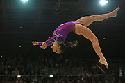 Catalina Ponor, Romania, on beam during the Arthur Gander Memorial,  Morges, Switzerland on 1 November 2017. Photo by Myriam Cawston.