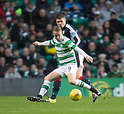 Dundee's Darren O'Dea shadows Celtic's Leigh Griffiths - Celtic v Dundee in the Ladbrokes Scottish Premiership at Celtic Park, Glasgow. Photo: David Young<br /> <br />  - © David Young - www.davidyoungphoto.co.uk - email: davidyoungphoto@gmail.com