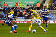 Jack Harrison (22) of Leeds United on the attack during the EFL Sky Bet Championship match between Reading and Leeds United at the Madejski Stadium, Reading, England on 12 March 2019.