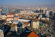 An overview of the Qendra area of Pristina, on the 13th of December 2018, the capital and largest city of Kosovo, it has a mainly Albanian population along with other smaller communities. (photo by Andrew Aitchison / In pictures via Getty Images)