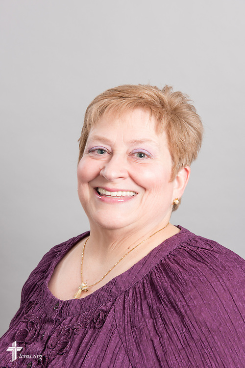 Headshot photograph of Sandy Kohlmeier at the International Center of The Lutheran Church–Missouri Synod studio on Friday, March 27, 2015. LCMS Communications/Erik M. Lunsford