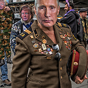 Media prankster Joey Skaggs has created a fake April Fools&rsquo; Day Parade for 31 years, this year, it&rsquo;s April Fools' Day Trump Military Parade.<br />