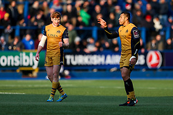 Jack Tovey and Tusi Pisi of Bristol Rugby - Rogan Thomson/JMP - 21/01/2017 - RUGBY UNION - Cardiff Arms Park - Cardiff, Wales - Cardiff Blues v Bristol Rugby - EPCR Challenge Cup.
