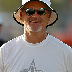 July 29, 2012; Metairie, LA, USA; New Orleans Saints general manager Mickey Loomis during a training camp practice at the team's practice facility. Mandatory Credit: Derick E. Hingle-US PRESSWIRE