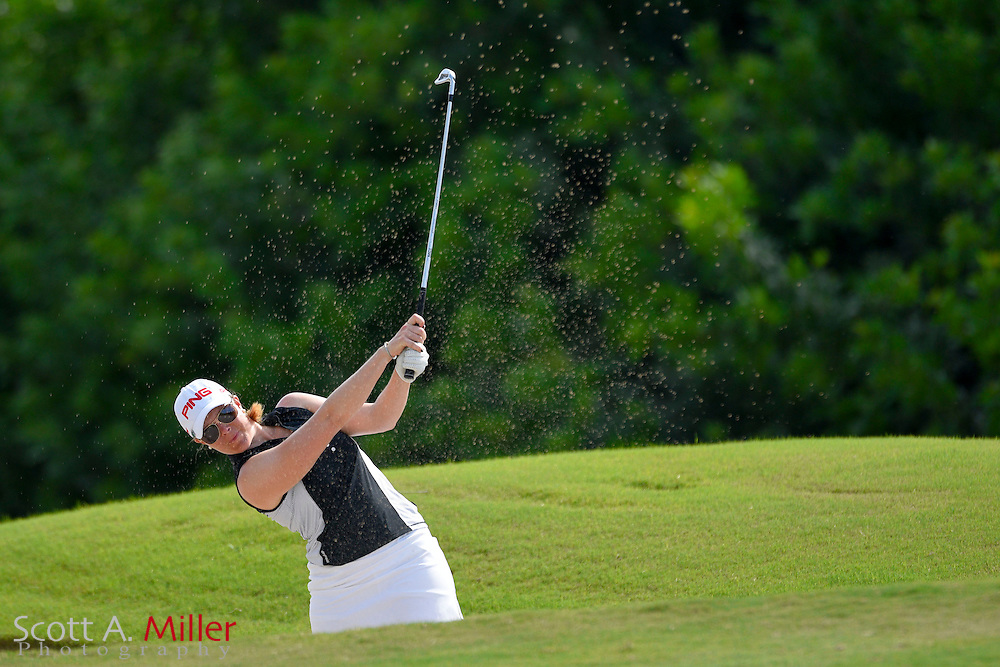 Caroline Westrup during the final round of the Chico's Patty Berg Memorial on April 19, 2015 in Fort Myers, Florida. The tournament feature golfers from both the Symetra and Legends Tours.<br /> <br /> &copy;2015 Scott A. Miller