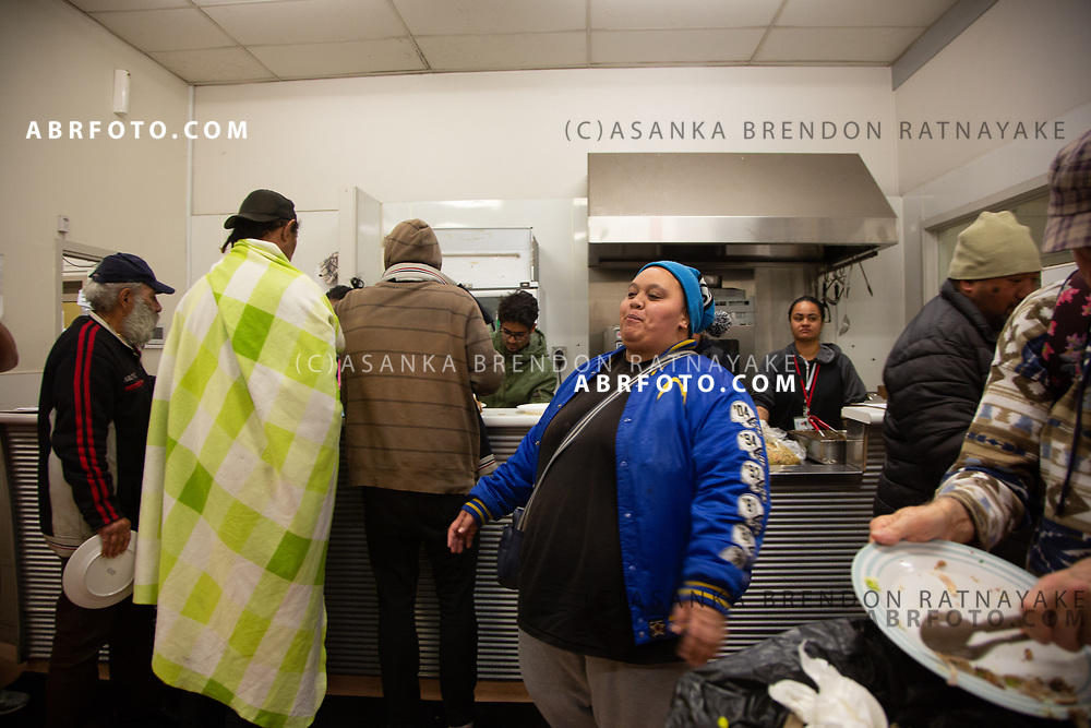 Homeless and the poor line up for dinner which is provided for free at the Auckland city mission on the 6th of June 2018. The Auckland City Mission provides a number of social services for the homeless. Asanka Brendon Ratnayake for The New York Times.