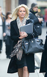 © London News Pictures. 23/11/2011. London, UK.  Sheryl Gascoigne, the ex-wife of Paul Gascoigne leaving The Royal Courts of Justice today (23/11/2011) to give evidence at the Leveson Inquiry into press standards. The inquiry is being lead by Lord Justice Leveson and is looking into the culture, and practice of the UK press. Photo credit : Ben Cawthra/LNP
