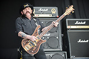 Motörhead, performing at Mayhem Fest 2012 at Verizon Wireless Amphitheater in St. Louis, Missouri on July 20, 2012.