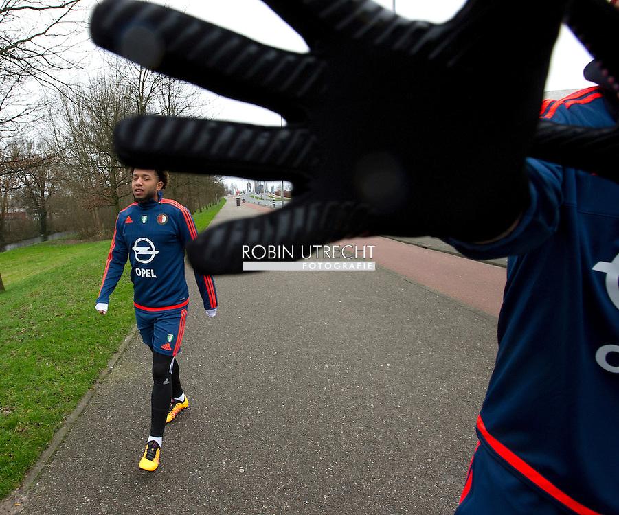 AMSTERDAM - Feyenoorder Vejinovic met dood bedreigd<br /> Crisis in De Kuip 02-02-2016 VOETBAL: TRAINING FEYENOORD: ROTTERDAM  Tonny Trindade de Vilhena  COPYRIGHT MICHEL UTRECHT