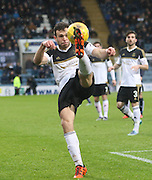 Aberdeen&rsquo;s Andrew Considine clears  - Dundee v Aberdeen, Ladbrokes Scottish Premiership at Dens Park<br /> <br />  - &copy; David Young - www.davidyoungphoto.co.uk - email: davidyoungphoto@gmail.com